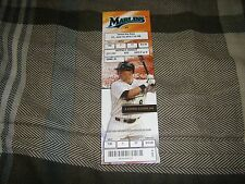 GIANCARLO STANTON 1ST MLB  HOME RUN FIRST #1 HR SEASON TICKET STUB-MARLINS RARE!
