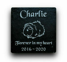 Personalised Engraved Slate Stone Pet Memorial Grave Marker Plaque Guinea Pig