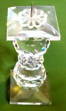 "Beautiful 4.5"" Swarovski Crystal Pin Candle Holder Pillar"