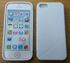 Custodia Cover Case S-Line bianca per apple iphone SE 5 5S in silicone