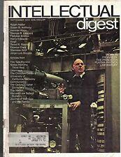 Intellectual Digest Magazine September 1972 Ralph Nader Jorge Luis Borges