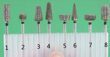 2.35mm Shank Sintered Diamond grinding burs 8pcs/set for grinding jade glass
