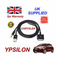 CHRYSLER YPSILON MULTIMEDIA ADAPTER 71805430 iPhone iPod USB & Aux Cable black