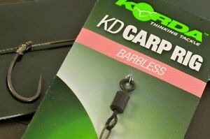 Korda KD Rig Ready Pre Tied Carp Fishing Rigs x3 *All Sizes & Types*
