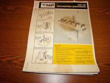 Equipment Brochure - Massey Ferguson - MF 18 - Scarifier Scraper