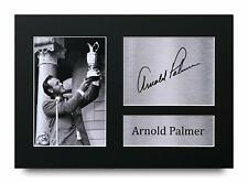 More details for arnold palmer signed pre printed autograph a4 photo gift for a golf fan