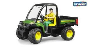 Bruder John Deere Gator XUV 855D With Driver 02490 Boys Girls Childrens Toys