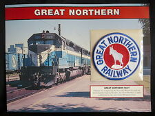 GREAT NORTHERN RAILWAY Willabee & Ward GREAT AMERICAN RAILROAD EMBLEM PATCH CARD