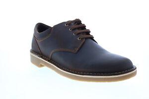 Clarks Bushacre 3 Lo Mens Brown Leather Oxfords & Lace Ups Plain Toe Shoes