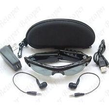 New Spy Sun Glasses DVR Camera Video Recorder Audio Mp3 Player Black In Box