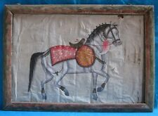 Vintage Old Collectible Decorative Horse Hand Painting On Cloth
