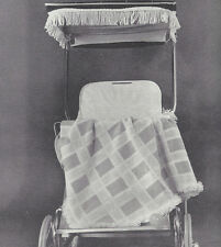 Vintage Knitting PATTERN to make Baby Afghan Blanket Carriage Robe Plaid