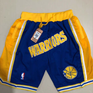 Men's Golden State Warriors Shorts Royal Stitched