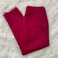 Lauren Ralph Lauren Petite Womens Size 8P Magenta Side Snap & Zip Pants EUC
