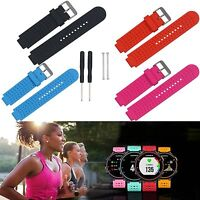 Silicone Band Strap For Garmin Forerunner 220 230 235 630 735XT 620 GPS Watch IP