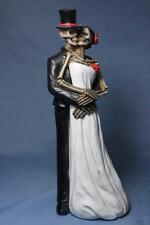 Love Never Dies Day of the Dead Wedding Skeleton Couple Skull Bride Groom New