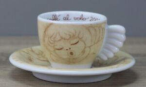Thun Weihnachten coffee al volo 2002 beige Espressotasse Tasse mit Unterteller