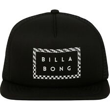 BILLABONG MENS BASEBALL CAP.UPGRADE FLAT PEAK MESH BLACK TRUCKER HAT 8S T01 19