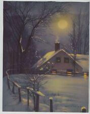 Tree Pond 8x10 Print 1284 Forest Landscape in Moonlight by Magnus Munsterhjelm