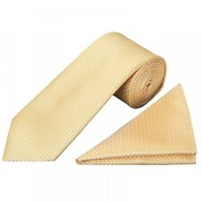 Gold Diamond Neat Classic Men's Tie and Pocket Square Set Regular Tie Normal Tie