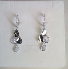 Orecchini donna goccia clips argento 925 zirconi  idea regalo Earrings Silver