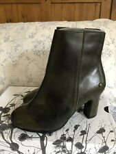 New Neosens Green Leather Ankle Boots Size 4 Eur 37 Rrp £110