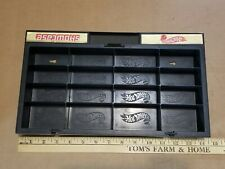 Vintage Mattel Hot Wheels Showcase 16 Vehicle Storage Display Case Black