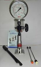 "Diesel Injector Nozzle Pop Tester - 200 BAR, 6"" dial, SS Body, GLY Filled Gauge"