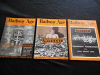 Vintage June 1937 Lot 3 Railway Age Daily Edition Unit Cast Magazines