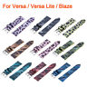 For Fitbit Versa / LITE /Blaze Leopard Print Leather Watch Band Replacement Band