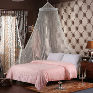 Elegant Round Lace Insect Repellent Bed Canopy Netting Dome Mosquito Net