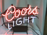 Coors Light beer sign vintage neon lighted bar signs 1 brewing Coor's no ship