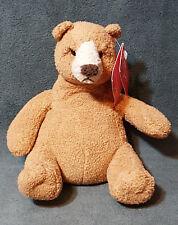 "Russ Luv Pets 6"" Plush Bean Bag Bear Bubba Suade Chamois Stuffed Animal"