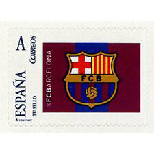 ESPAÑA SPAIN TU SELLO ESCUDO FUTBOL CLUB BARCELONA BARÇA 2010