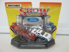 1992 Matchbox Show Stoppers Ford T-Bird Stock Card & T-Bird