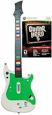 NEW XBox 360 Controller + GUITAR HERO 5 Video Game Kit bundle set instrument