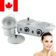 【CA】Double Pot Wax Warmer Heater Electric Dual Salon Hot Paraffin Waxing Supply