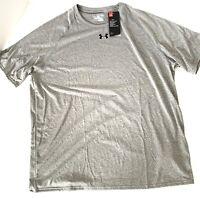 NEW UNDER ARMOUR HEAT GEAR MEN'S TECH T Shirt Size 2XL XXL Loose Fit