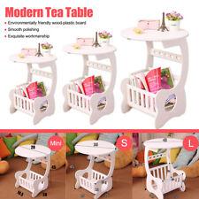 Modern Coffee Tea Table Round Home Living Room Desk Storage Rack Shelf  #✔ οr