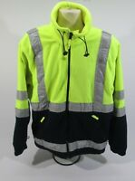 Ex MOD Police Hi Vis & Navy Fleece With Reflective Strips Winter Warm