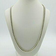 Hallmarked 925 Sterling Silver Heavy Chain Necklace Mens Ladies 54.67g 20""