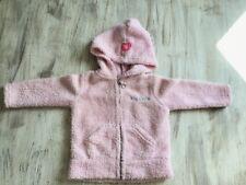 gilet à capuche fille rose pâle Taille 3/6mois en TBE