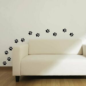 24 x Paw Print Dog Cat Pet Lover Decal Vinyl Stickers - Wall Car Glass Craft Art