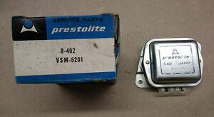 Prestolite 12V Voltage Regulator, 8-402 (VSF-7403S), Mercury Ford Cougar NOS!