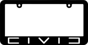 CIVIC JDM License Plate Frame