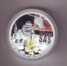 2007 $1 SAS ANNIVERSARY 50th Silver Proof Coin Australian Special Air Service