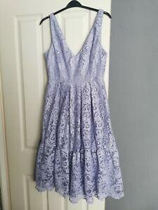 ASOS Purple Lilac Lace Formal / Bridesmaid Dress - 12
