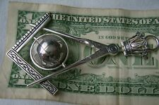 Freimaurer Anhänger  Globus Zirkel  Silber 925