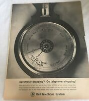 1962 Bell Telephone System Vintage PRINT AD Barometer Dropping Go Shopping 1960s