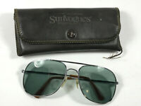 Vintage American Optical SunVogues aviator sunglasses w/ case Opti-Ray